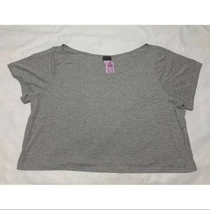 Torrid One Pocket Gray Crop Top Plus Size 4X